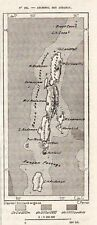 ILE ADAMAN ISLAND CARTE MAP PLAN INDE INDIA IMAGE 1883 PRINT