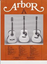 VINTAGE MUSICAL INSTRUMENT AD SHEET #2228 - ARBOR GUITARS G-13 G-596 G-296
