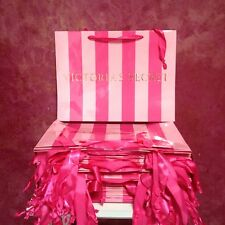 Victoria's Secret Lot Of 50 Large Pink Striped Bags, New