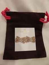 Kate Spade Sparkling Bow Stud Earrings Rose Gold Dust Bag NWT