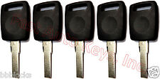 5 (FIVE) NEW Transponder Chipped Keys For Audi TT QUATRO S8 S4 A8 A6 A4 S6