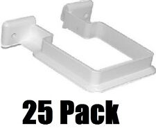 25 ea Genova RW202 RainGo White Vinyl Downspout Support Brackets