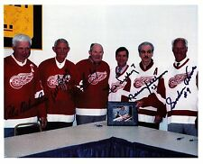 Gordie Howe, Ted Lindsay,Bill Gadsby,Alex Delvecchio,Harry Lumley-very RARE!!!