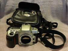 NIKON N60 35mm SLR FILM CAMERA BODY ONLY WITH SHOULDER STRAP & CARRY CASE
