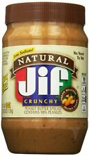 Jif Natural Crunchy Peanut Butter Spread, 40 Ounce Pack of 8