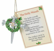 The Holly Wreath ~ Cross Of Nails Ornament Lot of 3 Ornaments Christmas Present