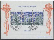 MONACO bloc 23 - NOEL de 1982 ** OBLITERE 1er JOUR