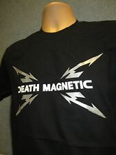 METALLICA Death Magnetic Black Band Logo T-Shirt (NEW Mens Small) Official Metal