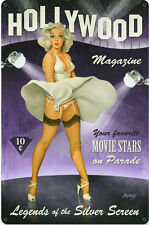 Hollywood Magazine Pin-Up  Metal Sign