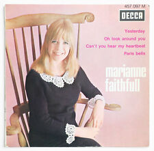 MARIANNE FAITHFULL Yesterday beatles french 1965 BIEM decca 457097 EP