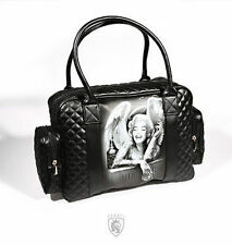 Og Abel Angelyn Tattoo Skeleton Punk Goth Rocker Love Tote Handbag Purse