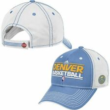 Adidas NBA Basketball Denver Nuggets Official Practice Graphic Adjustable Hat