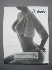 ►CATALOGUE LINGERIE AUBADE PRINTEMPS-ETE 2010