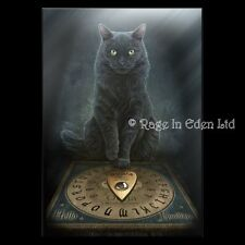 *HIS MASTER'S VOICE* Black Cat Ouija Art 3D Postcard By Lisa Parker (15x10cm)