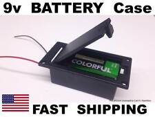 SQUARE guitar 9 volt 9v battery bow with cover for bass guitar or any guitar amp
