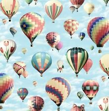 Fat Quarter In Motion Hot Air Balloon Fancy 100% Cotton Quilting Fabric