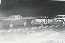 "12 By 18"" Black & White Picture Dirt Car Racer Car 1937 1938 Ford on track"