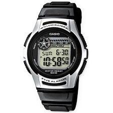 Casio reloj digital w-213-1a reloj pulsera caballero mujer plata negro nuevo & OVP