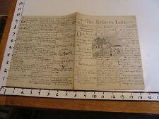 ORIGINAL HAND DRAWN  NEWSPAPER: NEWTON Mass: june 1874 Elizabeth Stuart Phelps