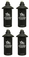 (4) ea Tiki 1312127 Metal Replacement Torch Fuel Canisters w/ Wick & Flame Guard