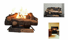 Emberglow Oakwood Vent Free Natural Gas Fireplace Logs Fire Log Set Thermostat
