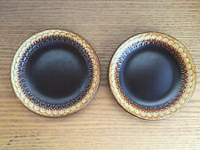 Wedgwood Sierra Brown to Gold Earthenware Embossed Edge 2 Bread & Butter Plates