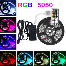 5M RGB 5050 SMD Waterproof 300 LED Strip Car Light & Remote &12V 5A Power Supply