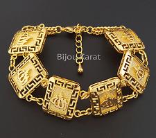 Allah Gold Armband 24 Karat vergoldet Damen Armschmuck Altin Kaplama Muslim