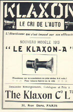 PARIS RUE DARU PUBLICITE AVERTISSEUR AUTOMOBILE THE KLAXON 1913