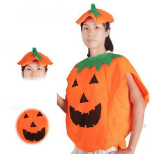 Halloween Party Fancy Dress Pumpkin Costume Clothes Suit With Hat