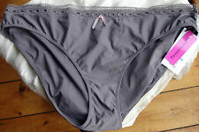 BNWT PASSIONATA BRIEFS KNICKERS SIZE XXL TAUPE STRETCH MICRO WITH LACE RRP£16.00