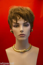Short Human Hair  Straight Layered Pixie Wigs