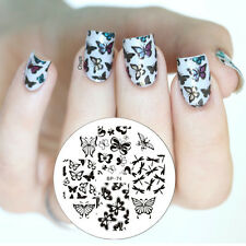 Schmetterling Nail Art Stamping Schablonen Stamp Image Plate BORN PRETTY BP74