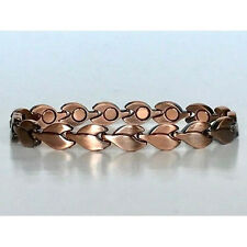 7.5 IN COPPER MAGNETIC BRACELET LOVELY DESIGN WITH MAGNET IN EVERY LINK NEW 6430
