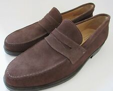 SHIPTON & HENEAGE Mens Tobacco Suede 'Eaton' Loafer/Shoes 11.75