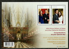 Canada #2465b Royal Wedding William & Kate Souvenir Sheet MNH