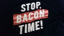 """Hoosier Lottery """"STOP. BACON TIME!"""" Men's Adult Large T-shirt"""
