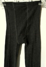 FADED GLORY Knit Leggings womens XS Charcoal Gray textured stripes Toeless
