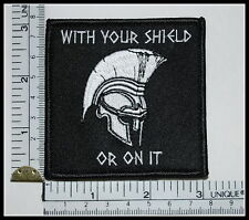 SPARTANS with your shield or on it patch Greek ARMY military milspec Morale