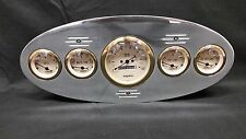 1934 PLYMOUTH 5 GAUGE DASH CLUSTER GOLD