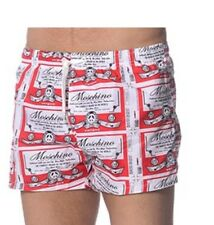 moschino mens red White Blue swim shorts size It 48 32 W