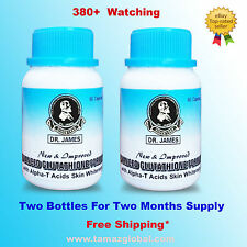 Dr James Glutathione - Skin Whitening Pills - 2 Bottles