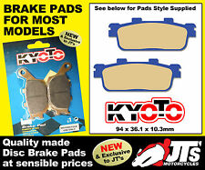 REAR SET OF DISC PADS BRAKE PADS FOR SYM Quadlander 250 (05-07)