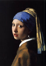 Beautiful Oil painting Johannes Vermeer - The Girl With The Pearl Earring Scarf