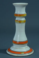 BEAU BOUGEOIR ANCIEN EN PORCELAINE POLYCHROME ANTIQUE PORCELAIN CANDLESTICK 19E