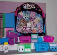 Shopkins BIG LOT OF Shopping BASKETS,  PIANO, STOVE, KIDS BACKPACK , CHEFS CLUB