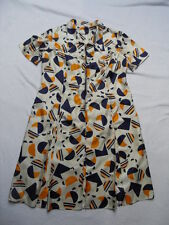 VINTAGE 1960s/70s ABSTRACT / GEOMETRIC PRINT DRESS - MOD / SCOOTER / DOLLYBIRD
