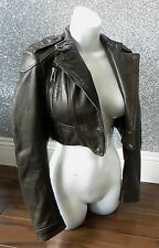 *Reduced* Stunning Belstaff HELSTON Super Cropped Leather Jacket UK6 RRP£1165