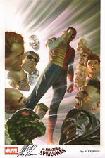 Alex Ross 2015 SDCC EXC SIGNED Marvel Comic Art Print ~ Amazing Spiderman