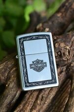 Zippo Lighter - Harley Davidson - H-D Barbed Wire - Satin - Model # 205HD H326